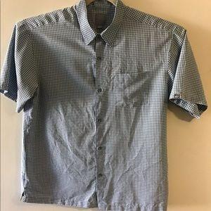 Quicksilver blue check camp shirt. XLarge